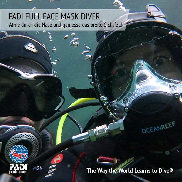 Sunshine Divers PADI VOLLGESICHTSMASKE KURS - FULL FACE MASK DIVER